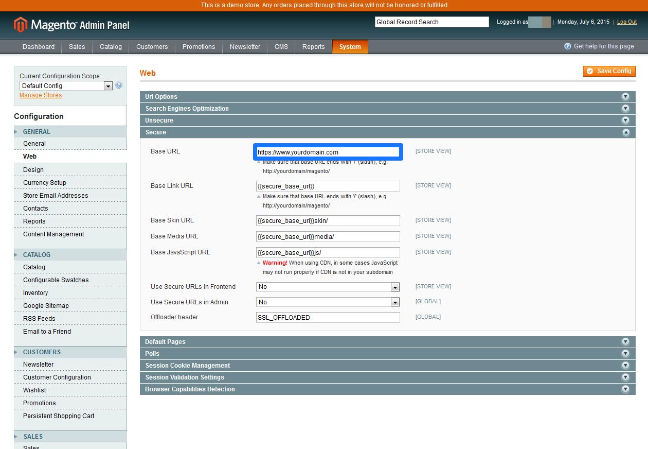CDN Magento SSL 4