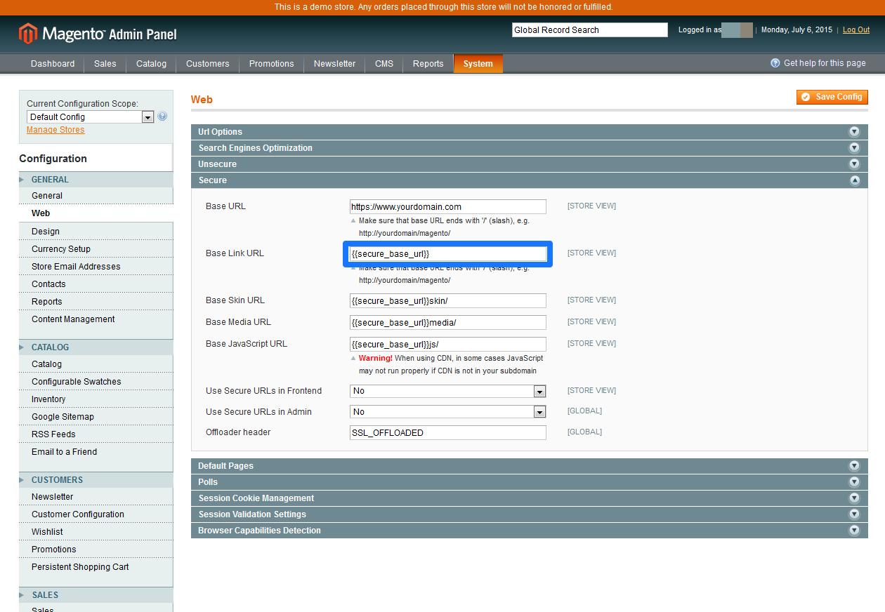 CDN Magento SSL 5