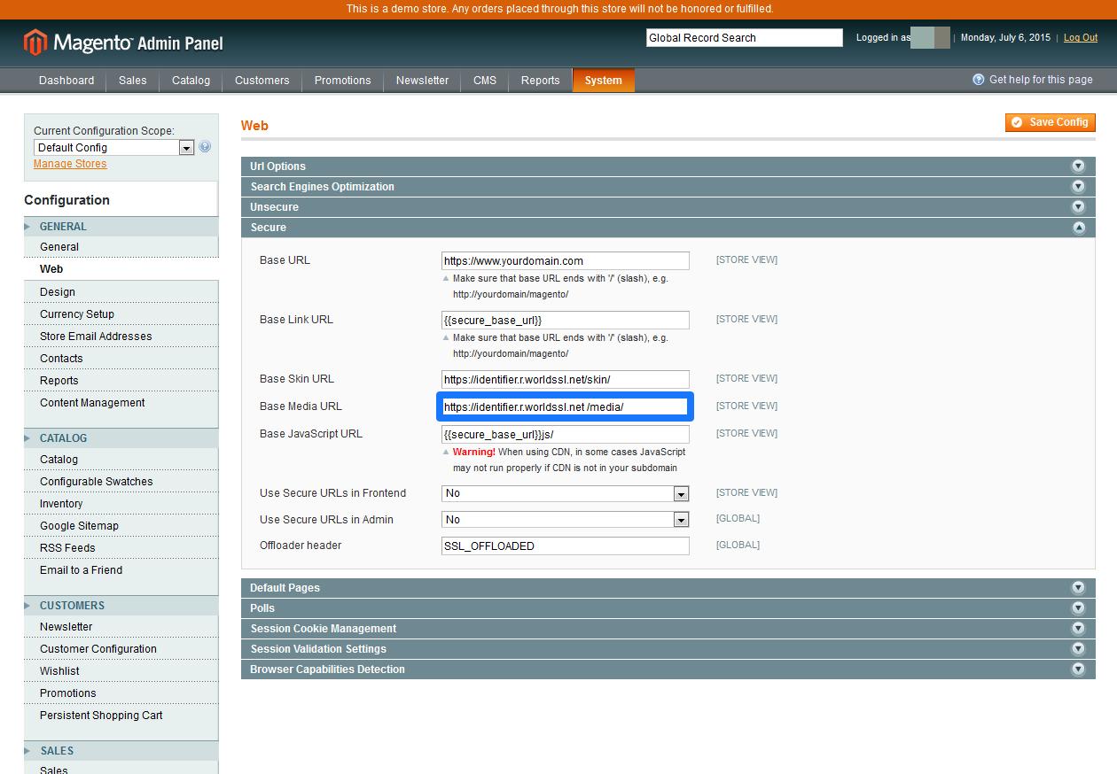 CDN Magento SSL 7