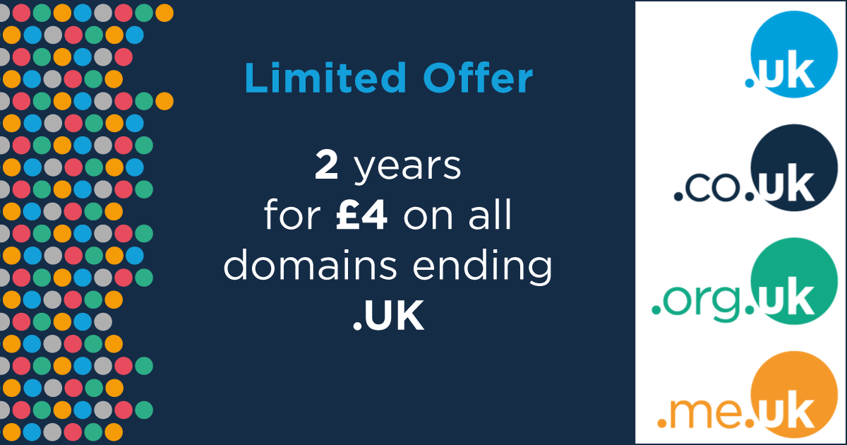 .UK Domain registration promotion with Nublue