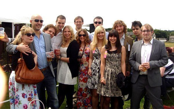The team at the horse races